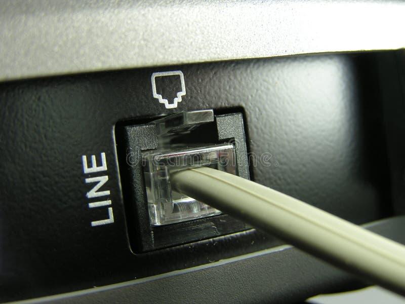 jacks linii telefon zdjęcie stock