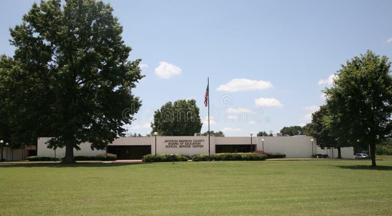Jackson, ângulo largo da administração da escola do TN fotos de stock