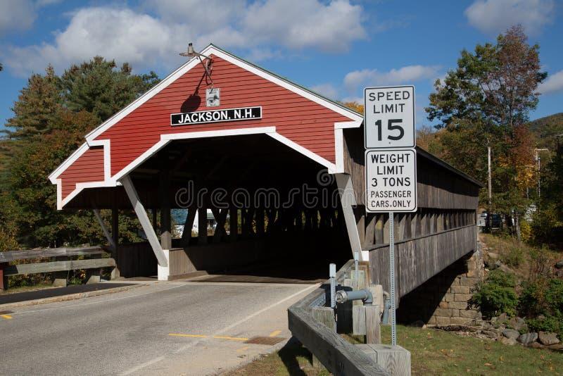 Jackson-überdachte Brücke N H stockbilder