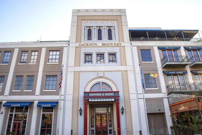 Jackson Brewery, bairro francês fotografia de stock