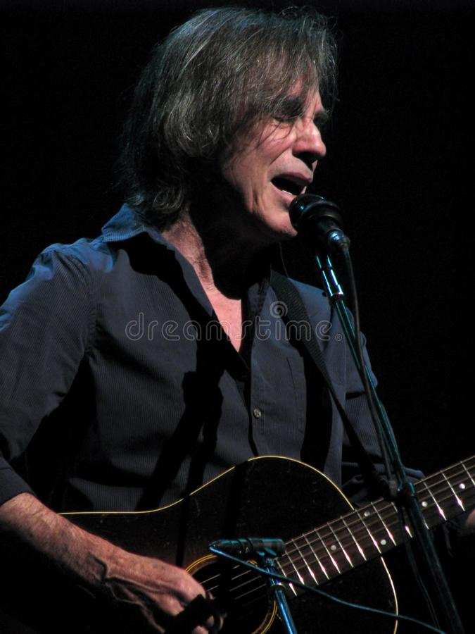 Jackson Browne in Concert. Jackson Browne is a popular American singer-songwriter and musician who has sold over 18 million albums in the United States. Coming stock photography