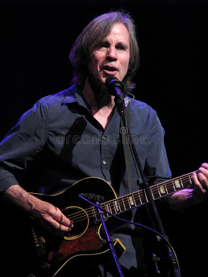 Jackson Browne in Concert. Jackson Browne is a popular American singer-songwriter and musician who has sold over 18 million albums in the United States. Coming royalty free stock image