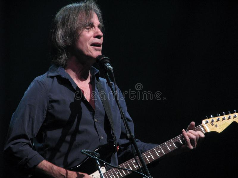 Jackson Browne in Concert. Jackson Browne is a popular American singer-songwriter and musician who has sold over 18 million albums in the United States. Coming royalty free stock photo