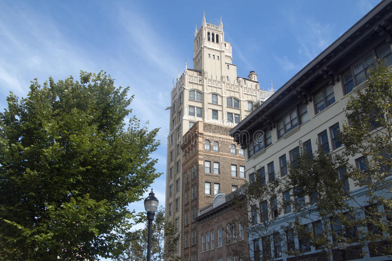 Jackson Building in Asheville, NC royalty free stock photo