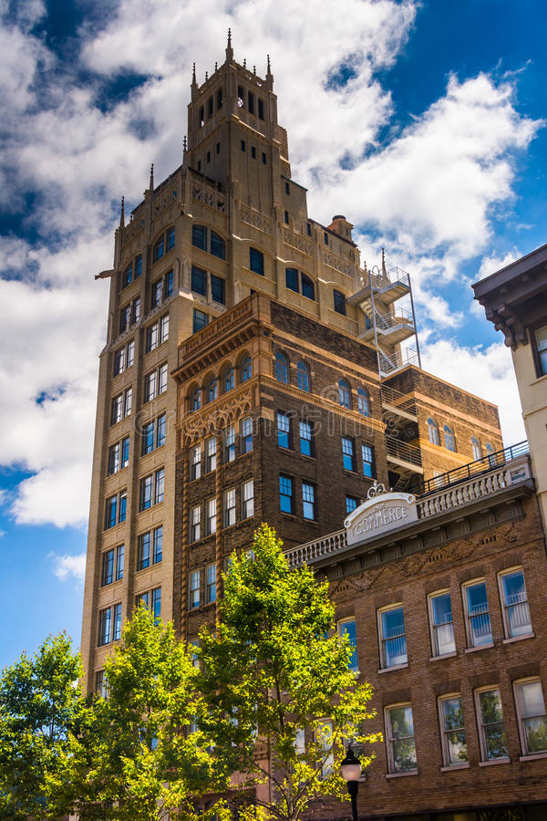 The Jackson Building in downtown Asheville, North Carolina. The Jackson Building in downtown Asheville, North Carolina royalty free stock photo