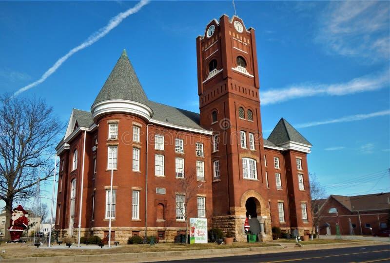 Jackson County Courthouse Newport Arkansas royalty-vrije stock afbeelding