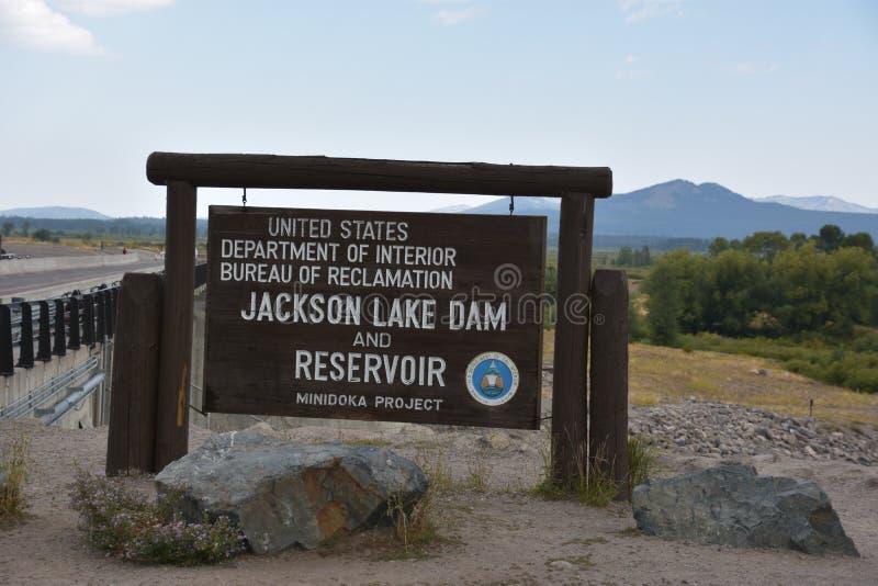 Jackson Dam bij het Nationale Park van Grand Teton royalty-vrije stock fotografie
