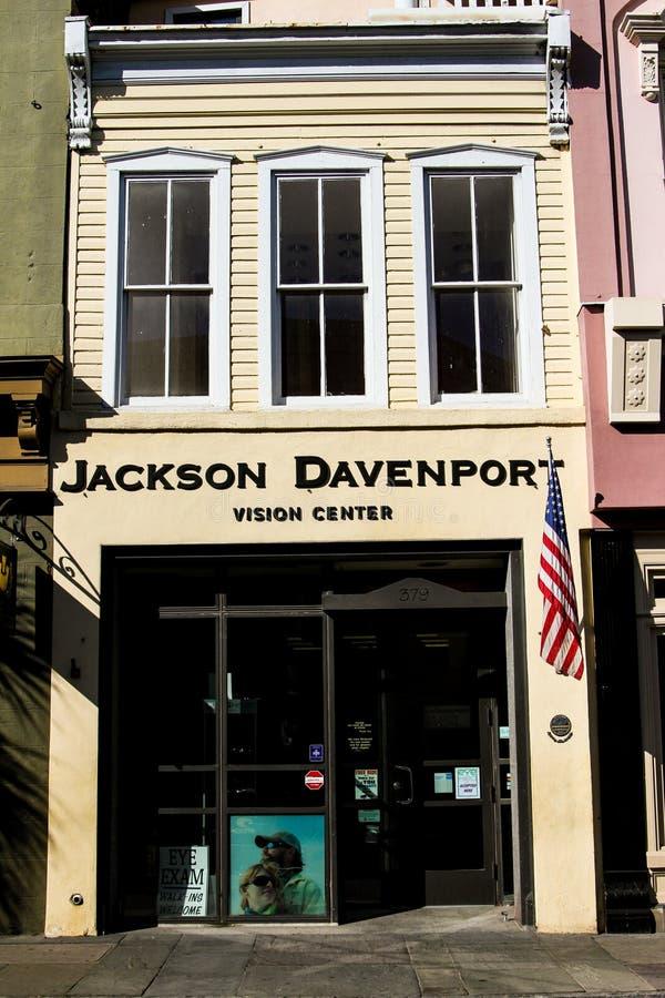 Jackson Davenport wzroku centrum, królewiątko ulica, Charleston, SC obraz royalty free