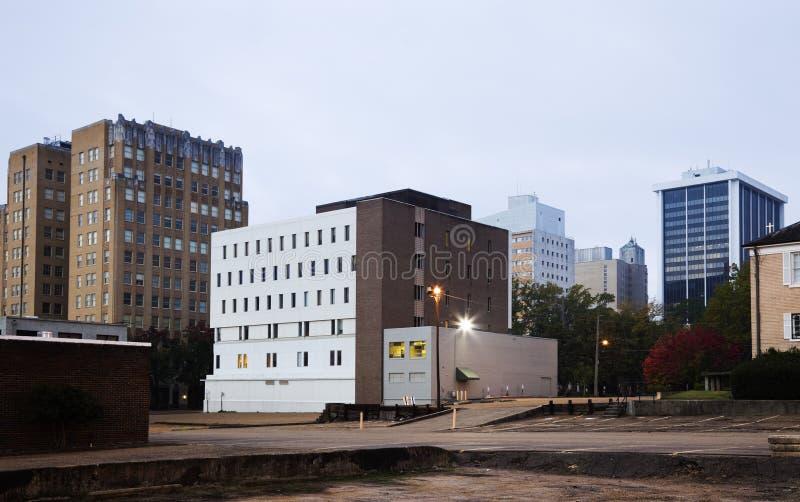 Jackson, de Mississippi - architectuur van de stad in stock foto's