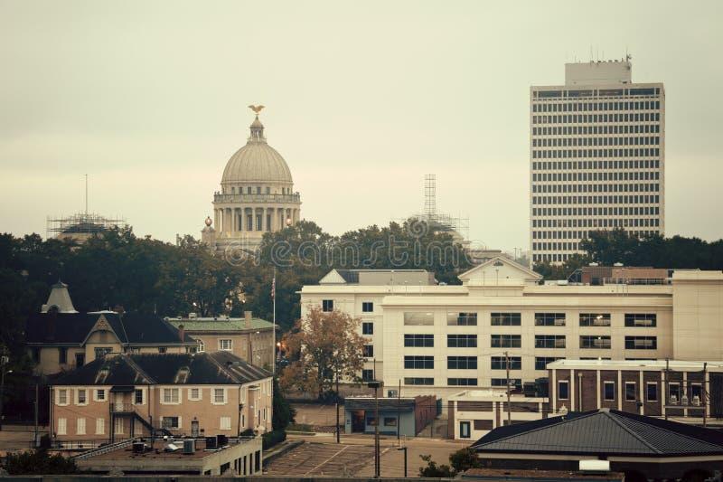 Jackson, de Mississippi - uitstekend panorama royalty-vrije stock fotografie