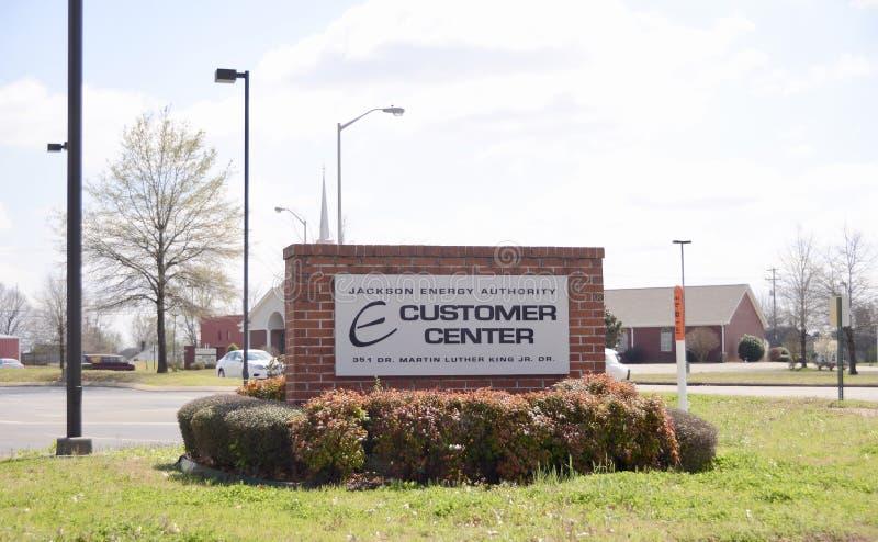 Jackson Energy Authority Customer Center stock afbeelding