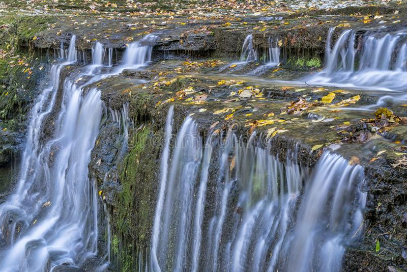 Jackson Falls at Natchez Trace Parkway. Detail of Jackson Falls at Natchez Trace Parkway, fall scenery stock photography
