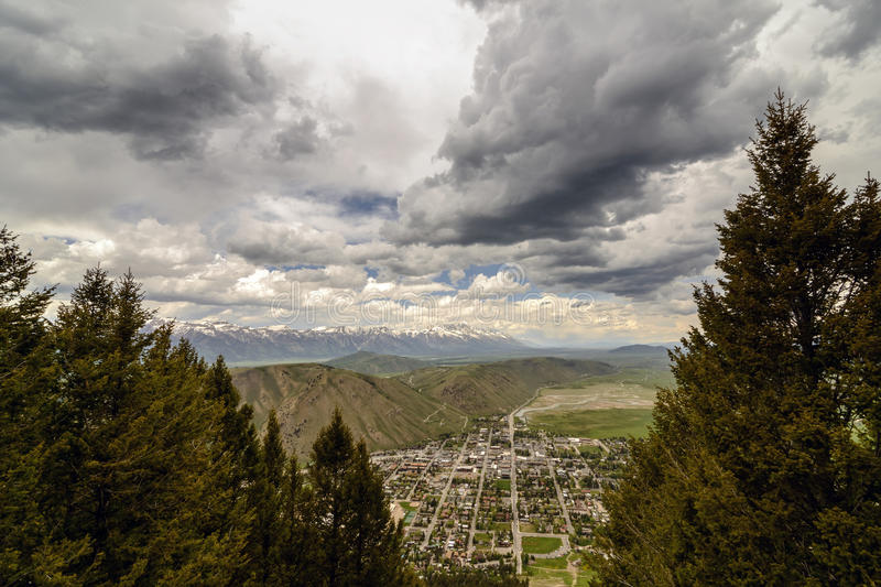 Jackson Hole Aerial View royalty free stock images