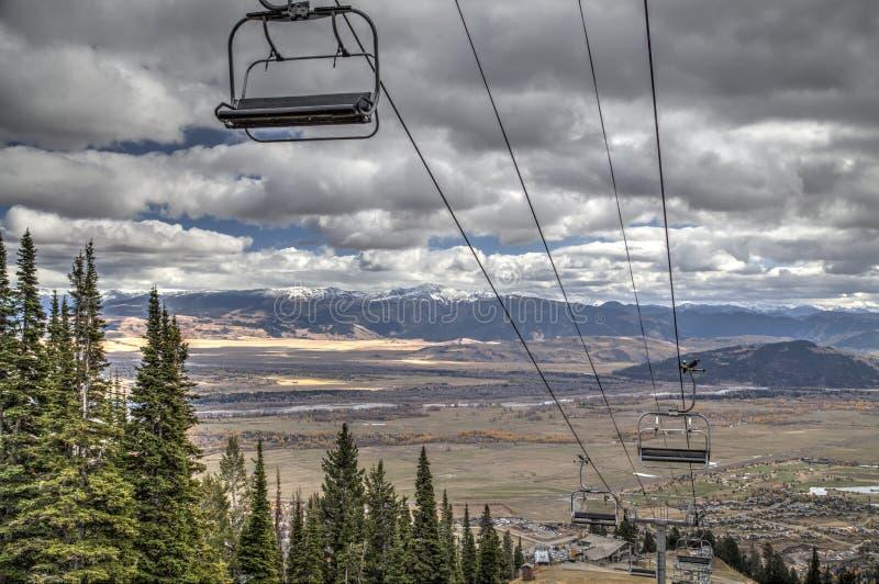 Jackson Hole Mountain lizenzfreies stockbild