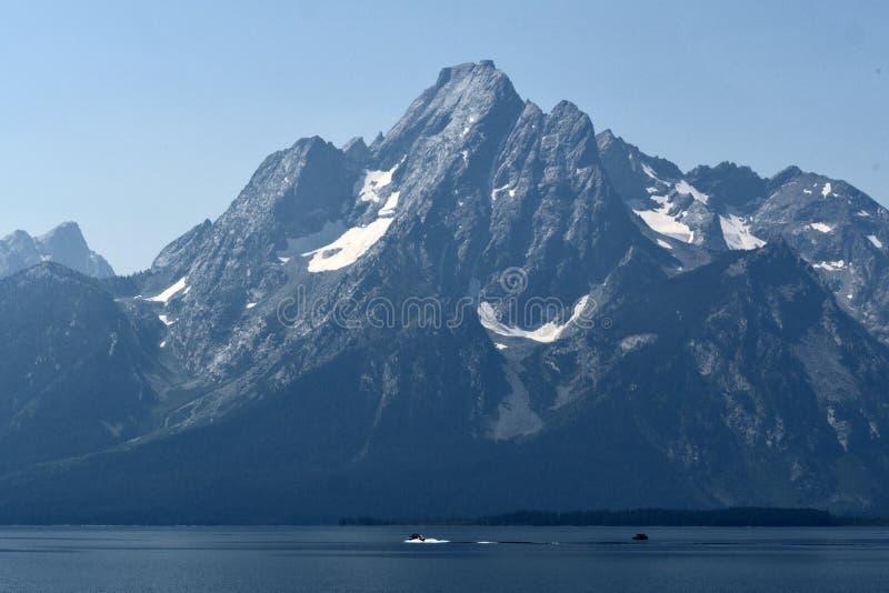 Jackson Lake, het Nationale Park van Grand Teton, Wyoming, de V.S. royalty-vrije stock afbeelding