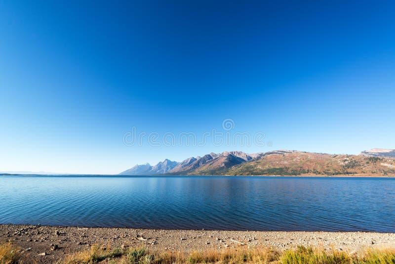 Jackson Lake Wide Angle imagen de archivo