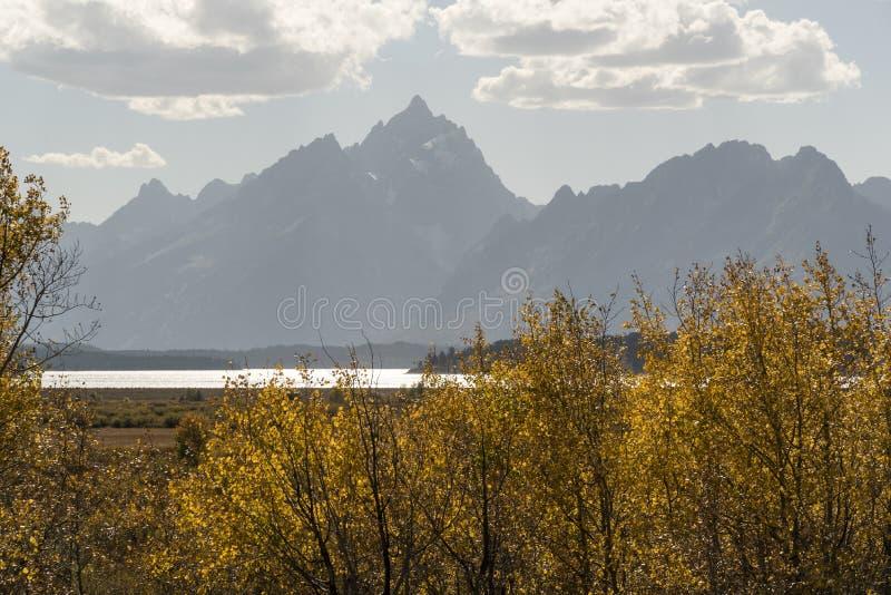 Jackson Lake Wyoming 2018 imagen de archivo libre de regalías