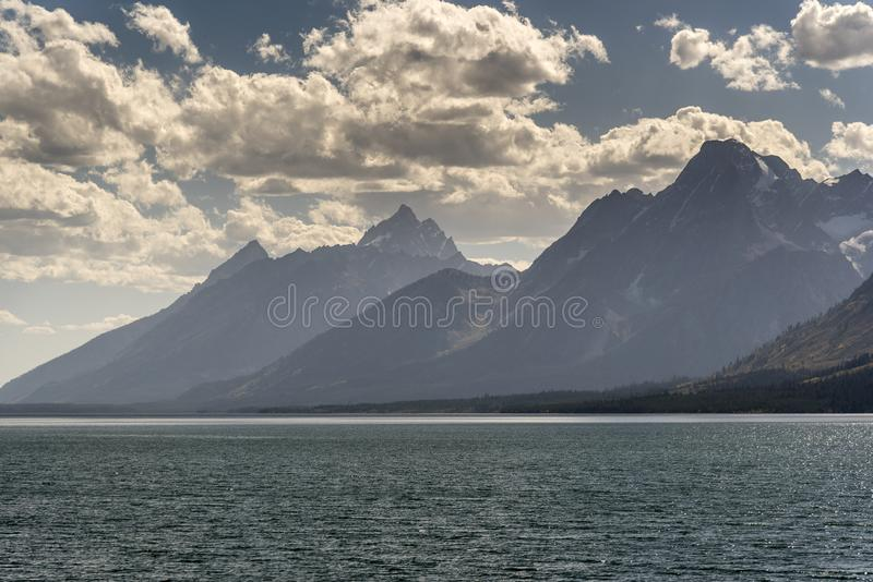 Jackson Lake Wyoming 2018 stock afbeelding