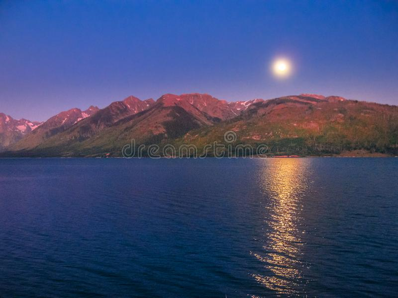 Jackson lake Wyoming stock photos