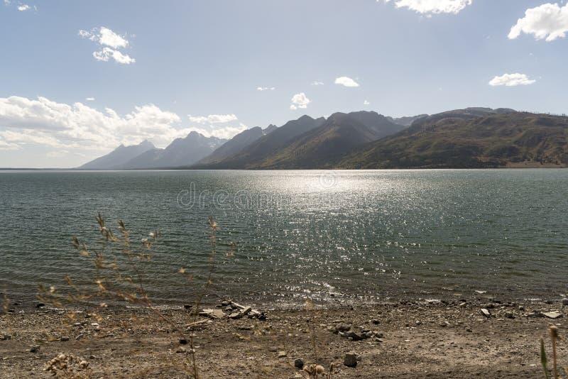 Jackson Lake Wyoming September 2018 stock foto
