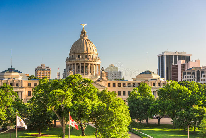 Jackson, Mississippi, usa fotografia royalty free