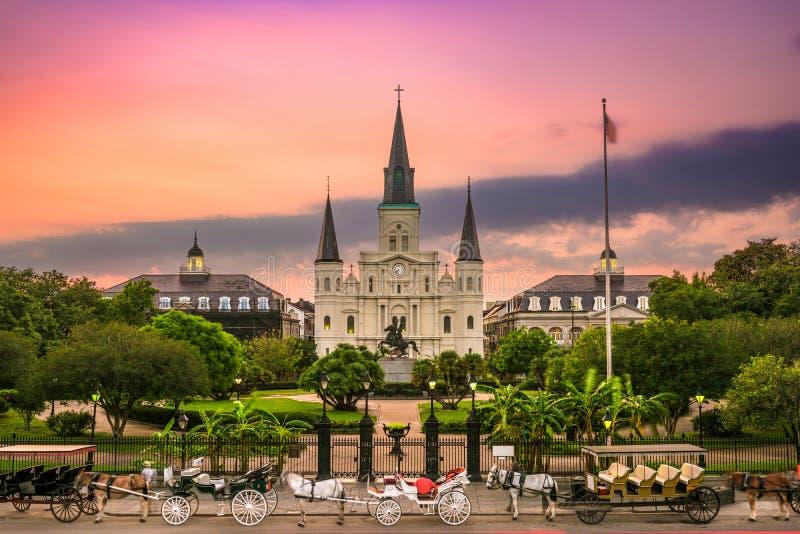 Jackson New Orleans cuadrada imágenes de archivo libres de regalías