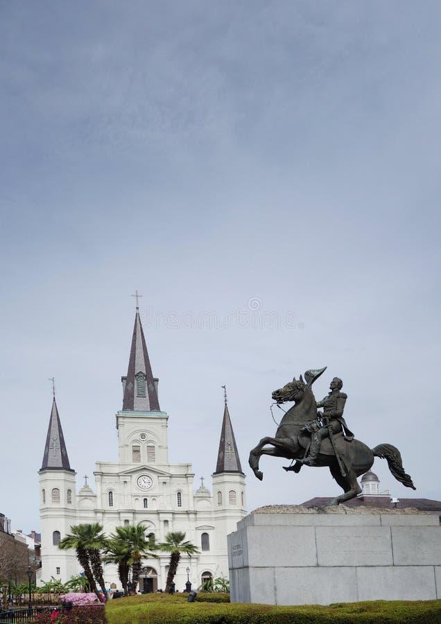 jackson New Orleans fyrkant fotografering för bildbyråer