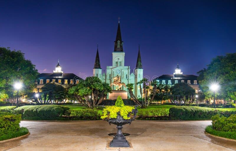 Jackson Park in New Orleans Van de binnenstad, Louisiane, de V.S. royalty-vrije stock foto's