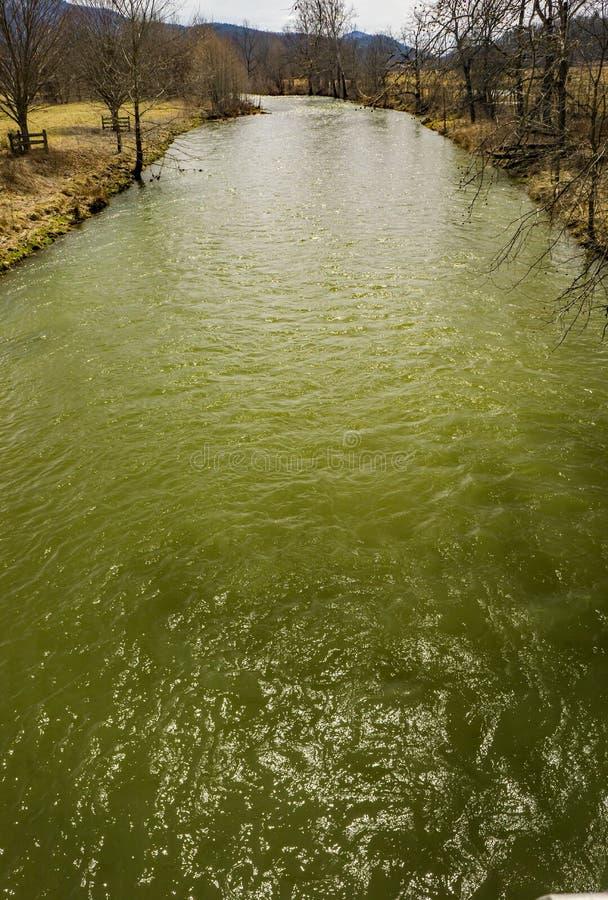 Jackson River nella contea di Highland, la Virginia, U.S.A. immagini stock