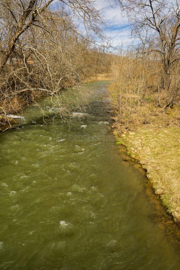 Jackson River nella contea di Highland, la Virginia, U.S.A. immagini stock libere da diritti