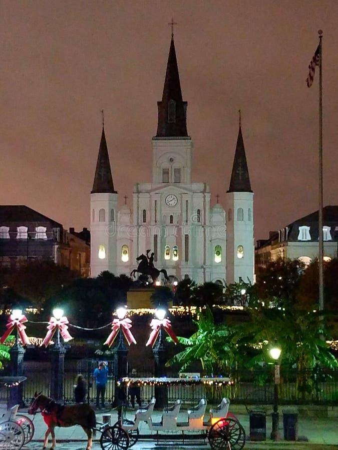 Jackson Square στο χρόνο Χριστουγέννων στοκ εικόνες
