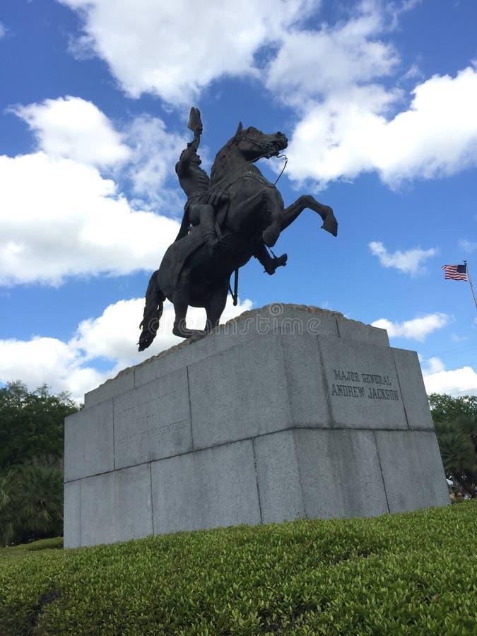 Jackson Square (Andrew Jackson Statue) immagini stock libere da diritti