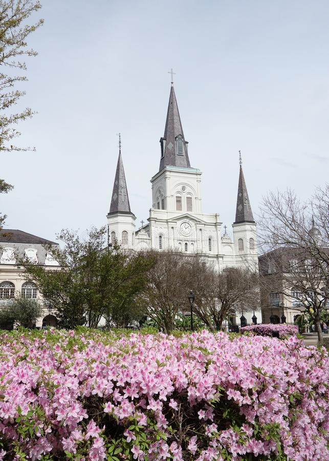Jackson Square dans le quartier français de la Nouvelle-Orléans image libre de droits