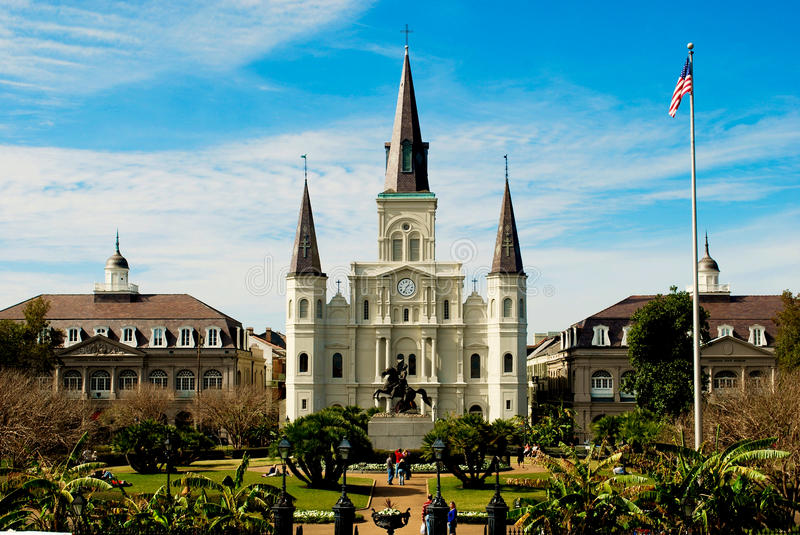 Jackson Square, New Orleans stock photo