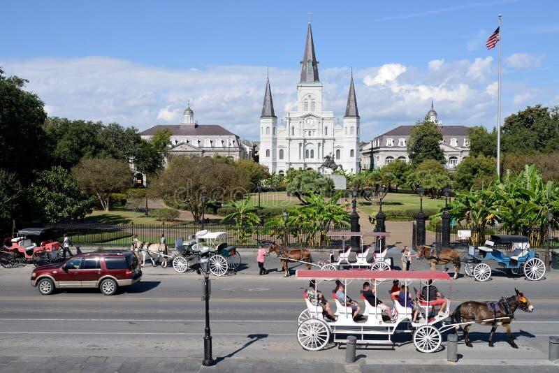 Jackson Square Of New Orleans fotografía de archivo libre de regalías