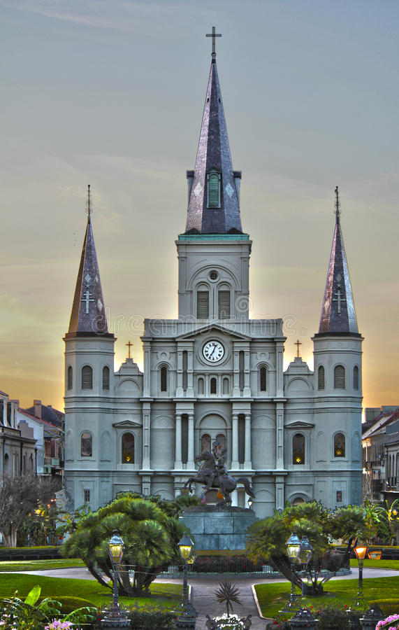 Jackson Square, New Orleans, LA royalty free stock photography