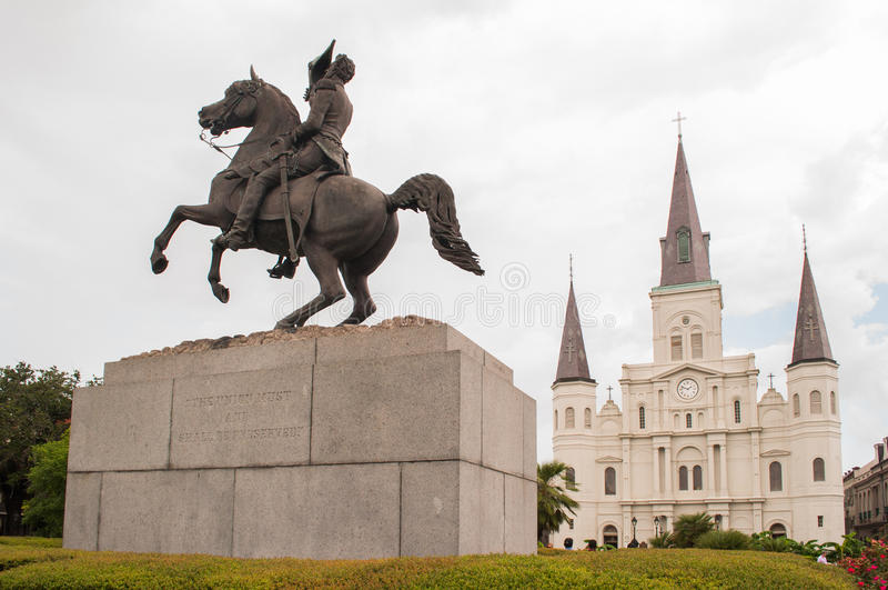 Jackson Square New Orleans stock images