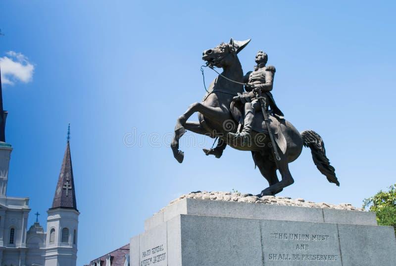 Jackson Square, nuevo Orleans-Andrew Jackson Statue fotos de archivo libres de regalías