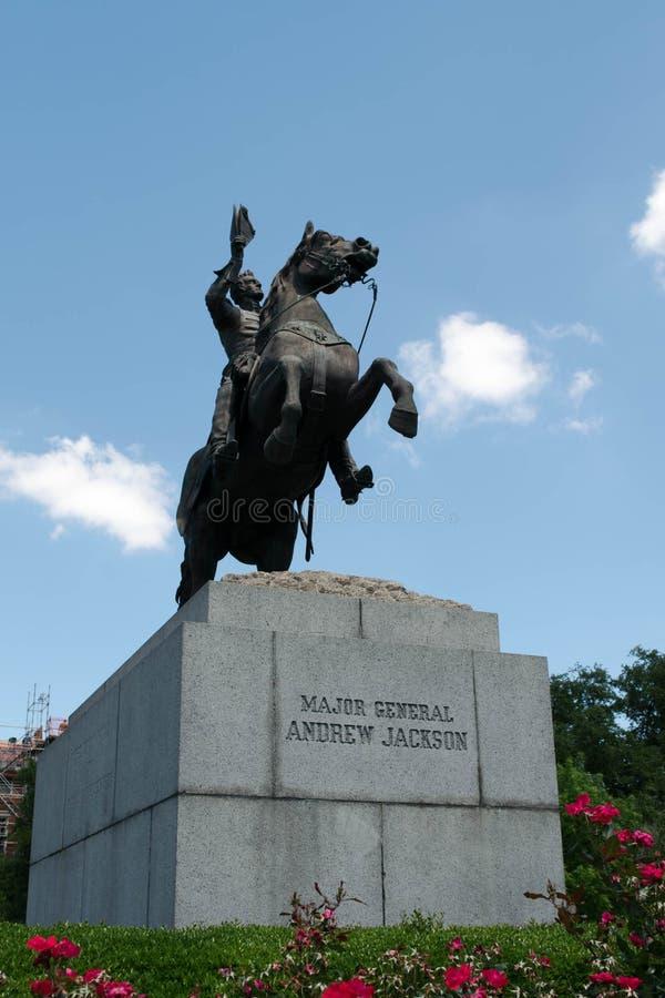 Jackson Square, nuovo Orleans-Andrew Jackson Statue fotografia stock