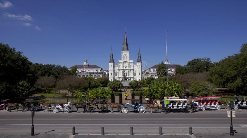Jackson Square - quartier français de la Nouvelle-Orléans, Louisiane photographie stock libre de droits