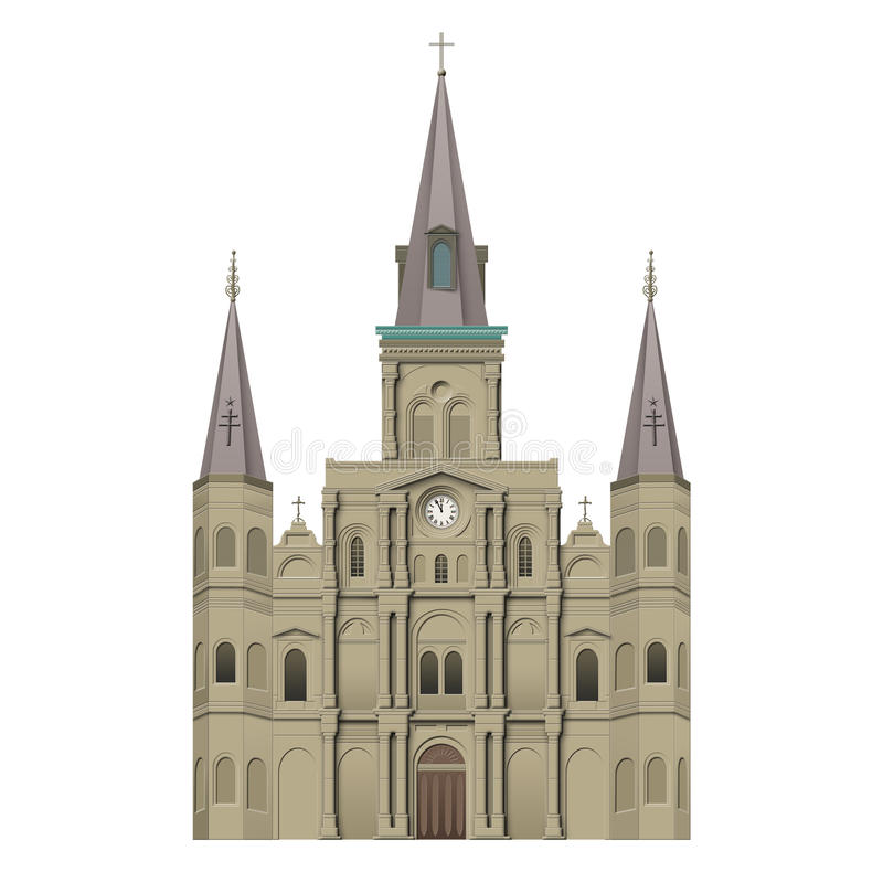 Free Jackson Square St Louis Cathedral Stock Image - 48049571