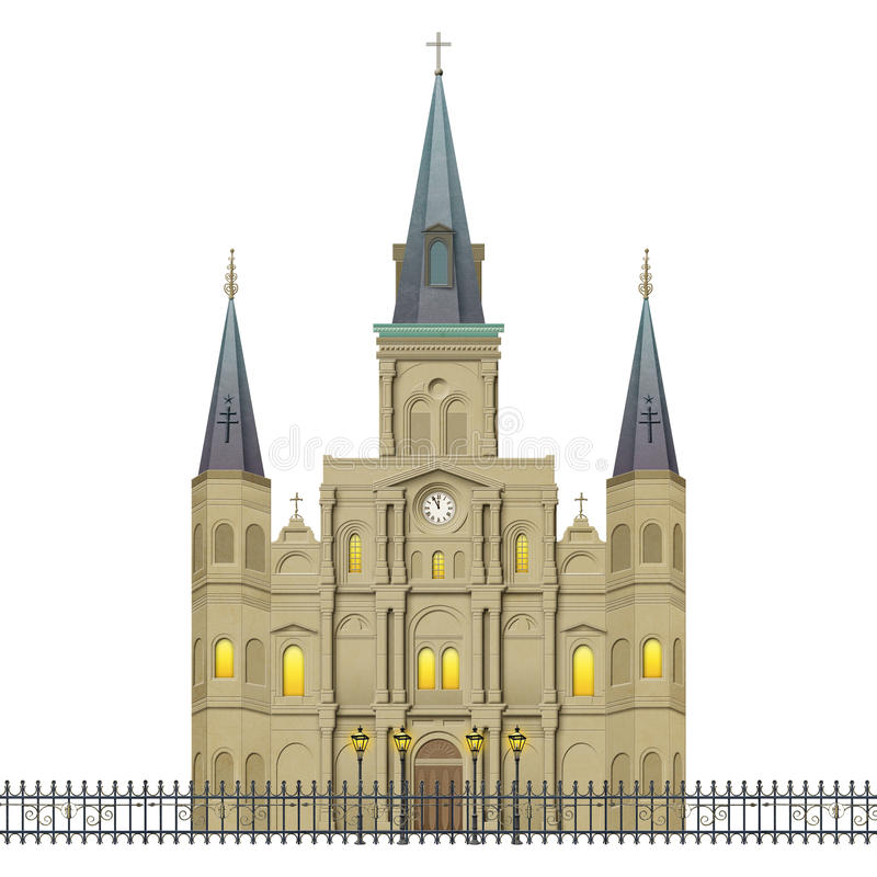 Free Jackson Square St Louis Cathedral New Orleans Stock Images - 48049774