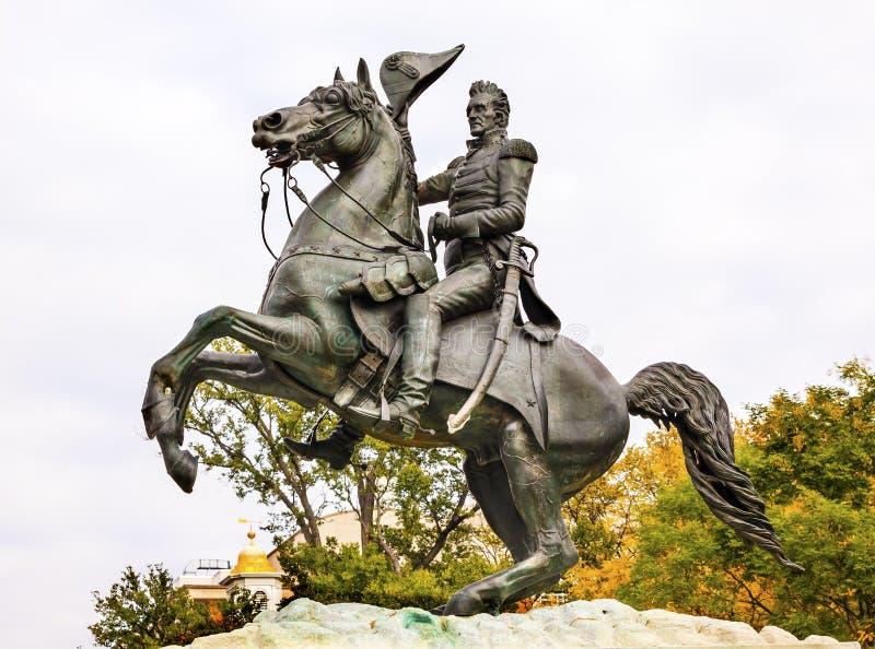 Jackson Statue Lafayette Park Autumn-Washington DC royalty-vrije stock afbeeldingen