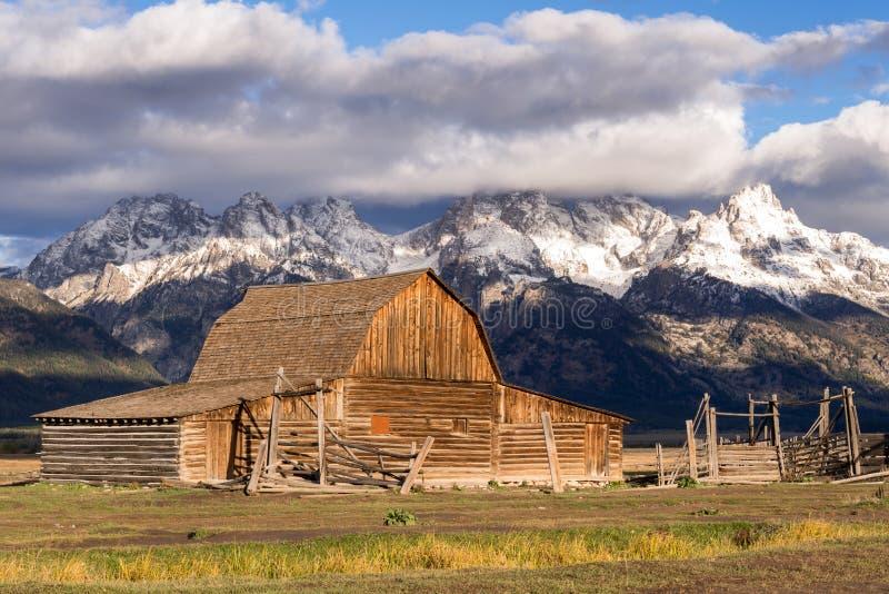 JACKSON, WYOMING/USA - 30 SEPTEMBRE : Vue de rangée mormone près de Ja image libre de droits