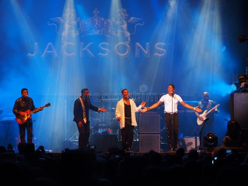 Jacksons levend in overleg Montreal 2016 stock foto's