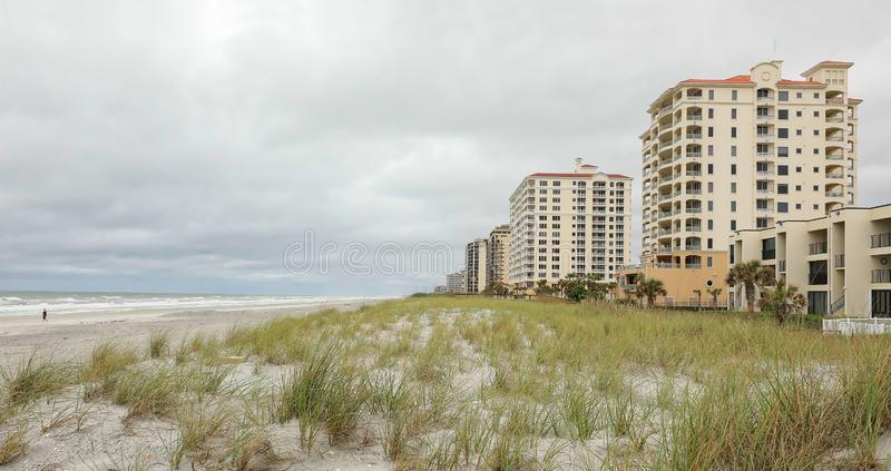 Jacksonville Beach as a cold front moves in. stock images