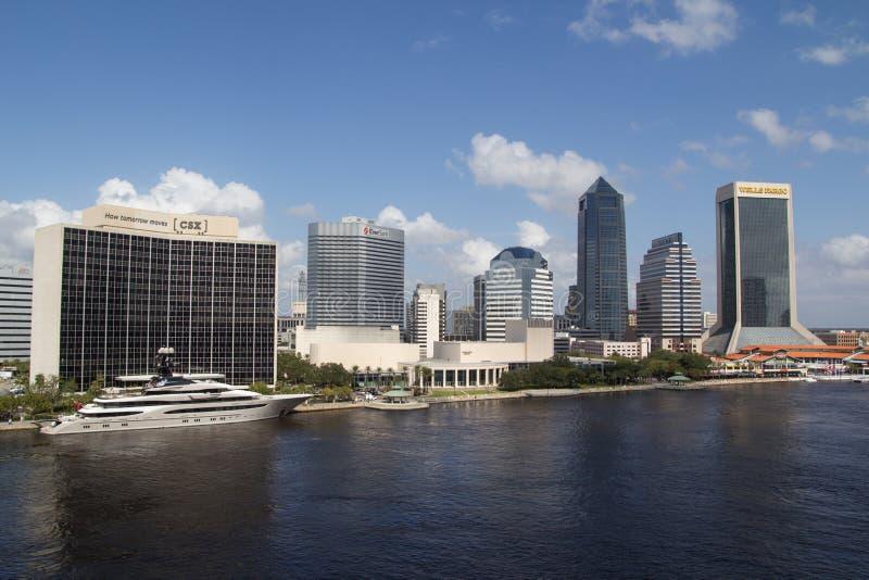 Jacksonville céntrica, la Florida foto de archivo libre de regalías