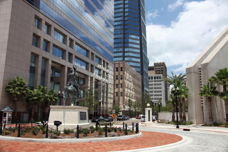Jacksonville city. Downtown of Jacksonville city Florida royalty free stock image