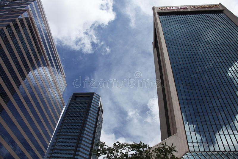 Jacksonville city. Downtown of Jacksonville city Florida stock photography
