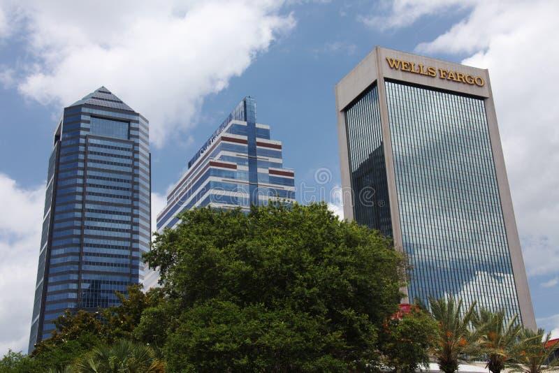 Jacksonville city. Downtown of Jacksonville city Florida stock image